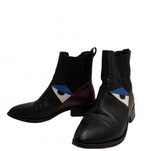 מגפונים Chelsea שחורים צבע בורדו ועיניים - Fendi 9
