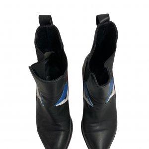 מגפונים Chelsea שחורים צבע בורדו ועיניים - Fendi 4