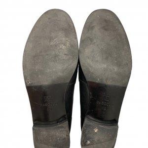 נעלי מוקסין עור שחור עם פרווה - BASCONI 5