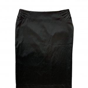 חצאית עיפרון עם שסע מאחור בצבע שחור - MORGAN 3