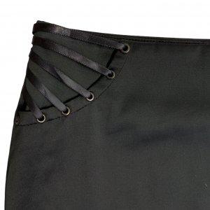 חצאית עיפרון עם שסע מאחור בצבע שחור - MORGAN 4