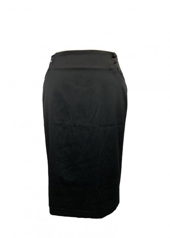 חצאית עיפרון עם שסע מאחור בצבע שחור - MORGAN 1