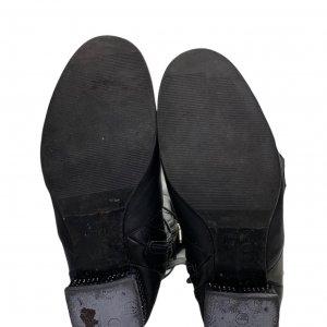 מגפי עור גבוהים שחורים עם מחרוזות בתחתית - CHRISTIAN DIOR 5