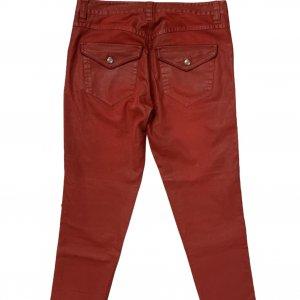 מכנס 3/4 אדום עם פרנזים ואבזמים מכסף - ISABEL MARANT 2