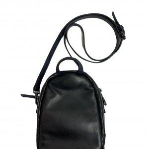 תיק צד קטן עור שחור - Baldinini 3