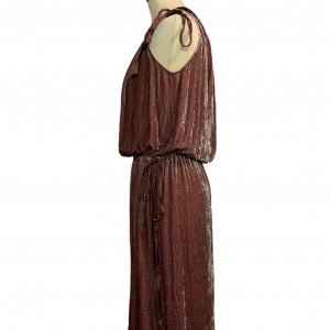 שמלת קטיפה ורודה BCBG 3