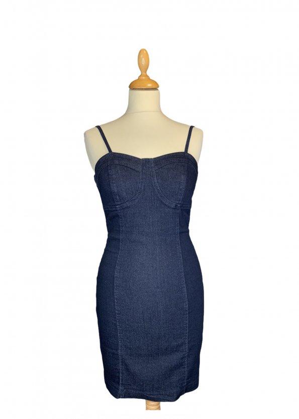שמלת ג׳ינס צמודה - NO NAME 1