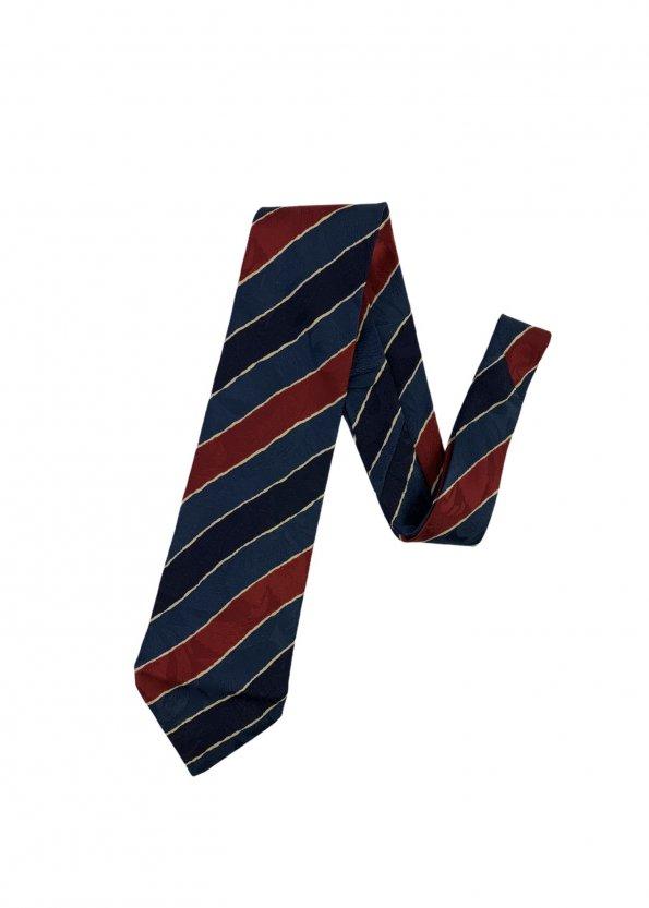 עניבה קווים אלכסוניים כחול אדום צהוב - BALLY 1