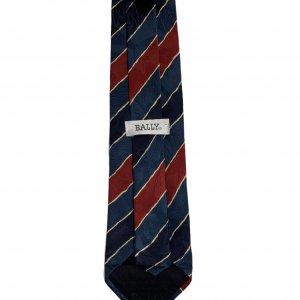 עניבה קווים אלכסוניים כחול אדום צהוב - BALLY 4