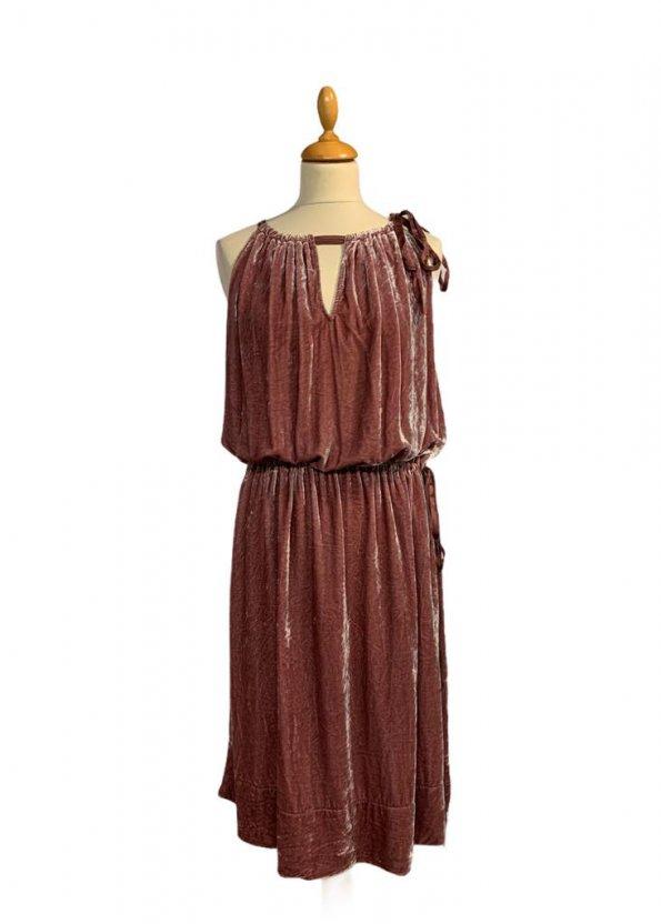שמלת קטיפה ורודה BCBG 1