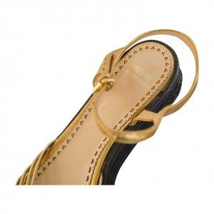 סנדל זהב פלטפורמה - Moschino 5