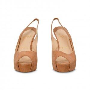 נעלי עקב זמש חום - Christian Louboutin 2