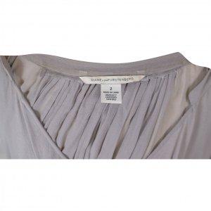 שמלה סגולה אפורה שיפון דוגמת עטלף - DVF 2