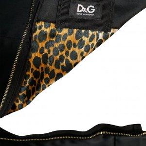 חצאית מידי סאטן שחור מבריק - D&G 3