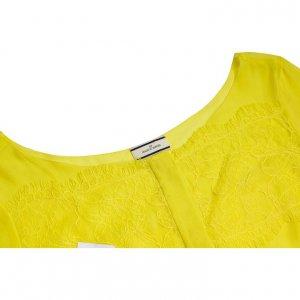 חולצת שיפון ותחרה בצבע צהוב שקוף MALENE BIRGER 3