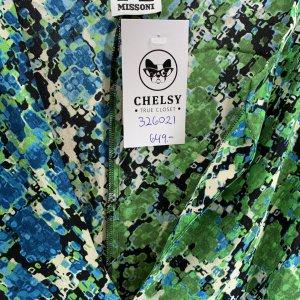 שמלת משי שרוול ארוך ירוק וכחול -  missoni 6