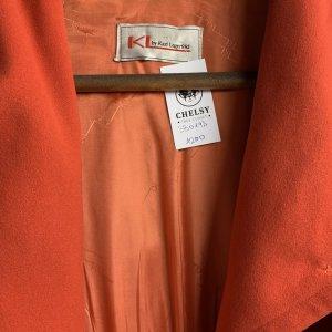 מעיל כתום עם קפוצון - KARL LAGERFELD 5