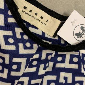 שמלת ויסקוזה כחול לבן -  MARNI 6
