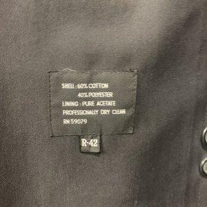 מעיל טרנץ שחור לגבר - KASPER 7