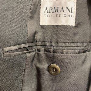 בלייזר קז׳ואל בצבע אפור כהה - Armani Collezioni 5