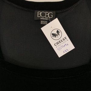 שמלת קטיפה שחורה - BCBG Dresses 4