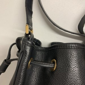 תיק כתף שחור עור וינטג׳ - Gucci 10