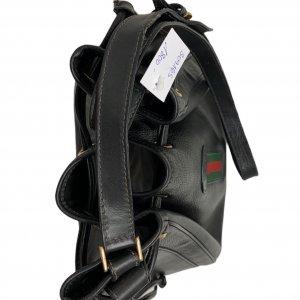 תיק כתף שחור עור וינטג׳ - Gucci 7