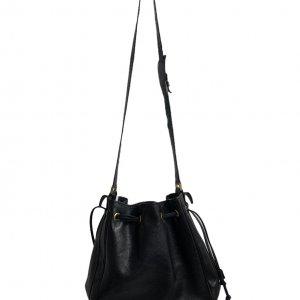 תיק כתף שחור עור וינטג׳ - Gucci 3