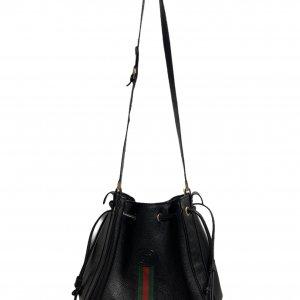 תיק כתף שחור עור וינטג׳ - Gucci 4