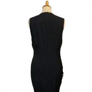 שמלה שחורה ללא שרוול שחורה עם הדפס בצד ימין אפור עם זהב - VERSACE VERSUS 2