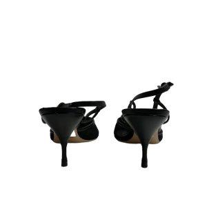 נעלי עקב שחורות עם רשת ופפיון - MIU MIU 3