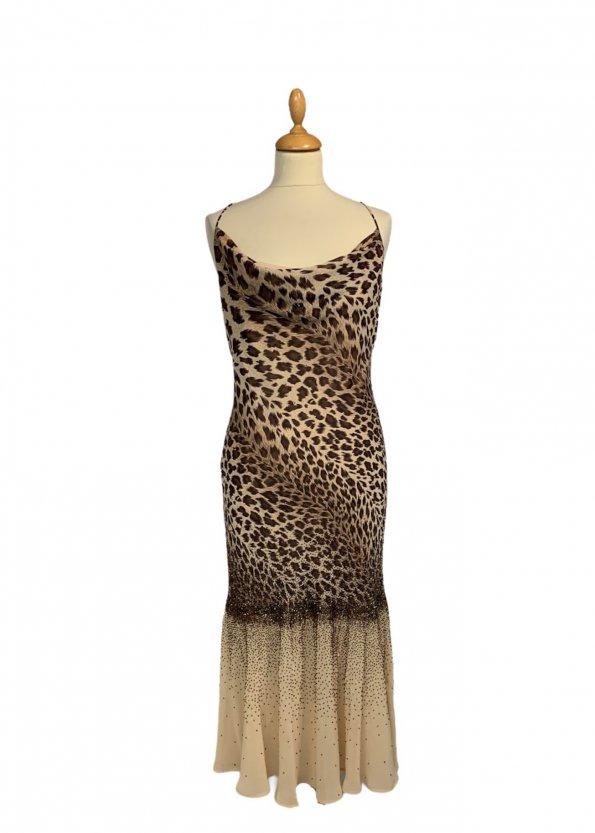 שמלת ערב וינטג׳ מנומר עם חרוזים רקומים - וינטג׳ 1