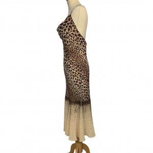 שמלת ערב וינטג׳ מנומר עם חרוזים רקומים - וינטג׳ 3
