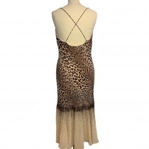 שמלת ערב וינטג׳ מנומר עם חרוזים רקומים - וינטג׳ 2