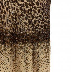 שמלת ערב וינטג׳ מנומר עם חרוזים רקומים - וינטג׳ 4