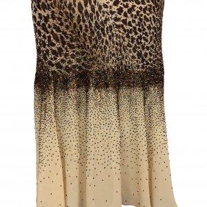 שמלת ערב וינטג׳ מנומר עם חרוזים רקומים - וינטג׳ 5