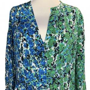 שמלת משי שרוול ארוך ירוק וכחול -  missoni 5
