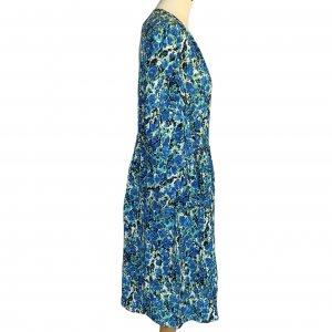 שמלת משי שרוול ארוך ירוק וכחול -  missoni 4