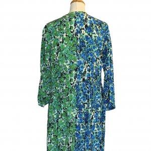 שמלת משי שרוול ארוך ירוק וכחול -  missoni 2