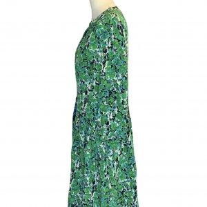 שמלת משי שרוול ארוך ירוק וכחול -  missoni 3