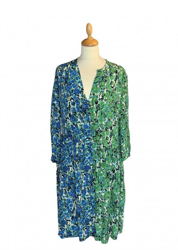 שמלת משי שרוול ארוך ירוק וכחול -  missoni 1
