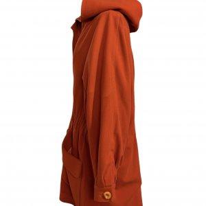 מעיל כתום עם קפוצון - KARL LAGERFELD 3