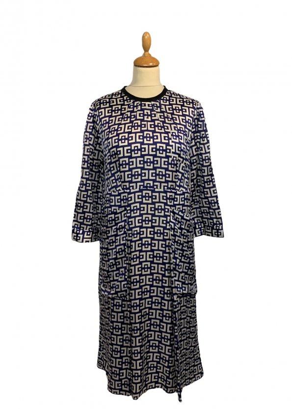 שמלת ויסקוזה כחול לבן -  MARNI 1