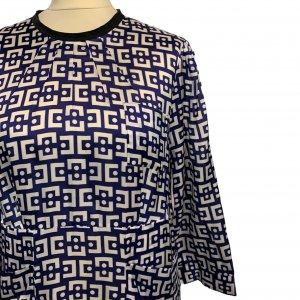 שמלת ויסקוזה כחול לבן -  MARNI 4