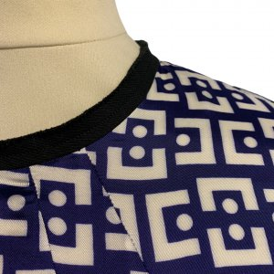 שמלת ויסקוזה כחול לבן -  MARNI 5
