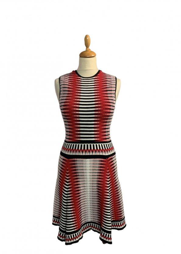 שמלה סרוגה גווני אדום - Ronny Kobo 1