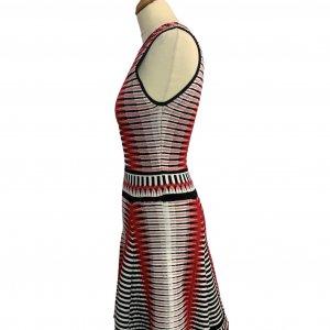 שמלה סרוגה גווני אדום - Ronny Kobo 3