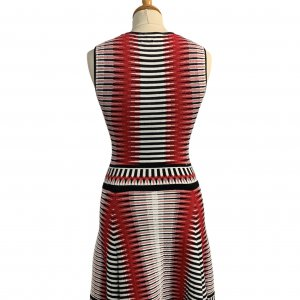 שמלה סרוגה גווני אדום - Ronny Kobo 2