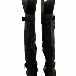 מגף עד הברך עור שחור עם 2 אבזמים - SAM EDELMAN 3