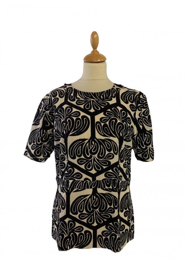 חולצת שרוול קצר שחור לבן - Marni 1